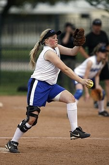 Softball, Pitcher, Player, Girl, Game, Competition