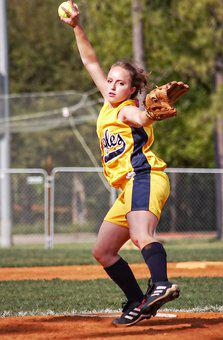 Softball, Pitcher, Female, Pitching, Throwing, Ballpark