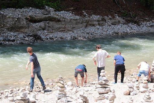 Children, Play, Stone's Throw, Water