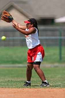 Softball, Player, Female, Game, Competition, Uniform