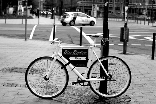 Bike, Road Bike, Racing Cyclists, Black And White