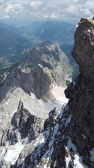 Hell Valley, Zugspitze, Summit, Ridge, Rock Ridge