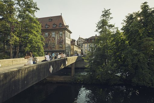 Bridge, City, Leisure, Old Bridge, River, Homes, Old