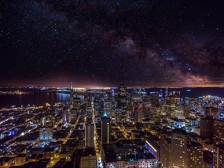 Galaxy, Milky Way, San Francisco, Milky, Space, Way