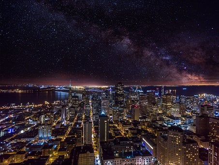 Galaxy, Milky Way, San Francisco, Milky, Space, Way