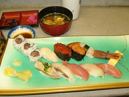 Sushi, Market, Sea Urchins, Egg