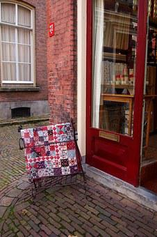 Quilt, Patchwork, Display, Shop, Street, Netherlands