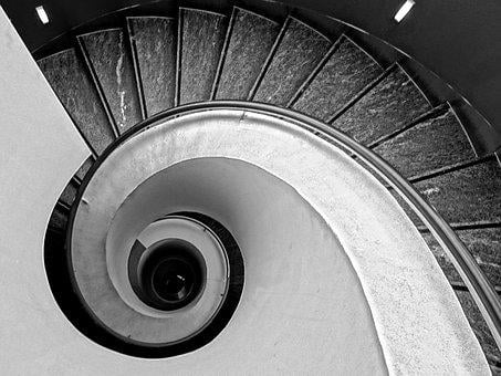 Stairs, Spiral Staircase, Spiral, Gradually