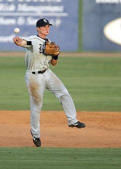 Baseball Player, Throwing, Short Stop, Baseball, Sport