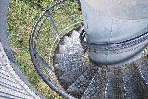 Winding, Stairs, Vertigo, Spiral, Staircase, Steps