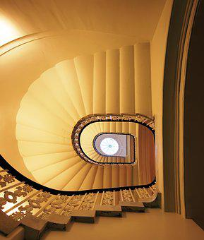 Stairs, Staircase, Railing, Spiral Staircase, Post