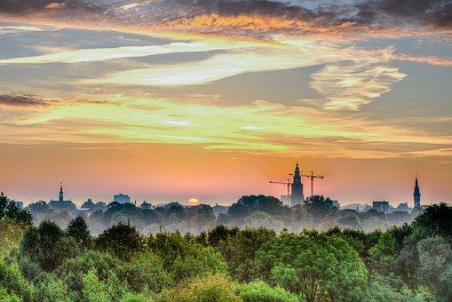 Groningen, City, Cityscape, Morning, Early, Sunrise