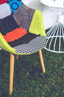 Chair, Texture, Textile, Patches, Patchwork