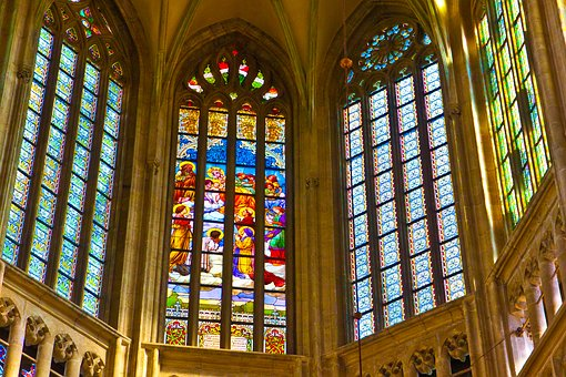 Stained Glass In The Cathedral, The Barbarians