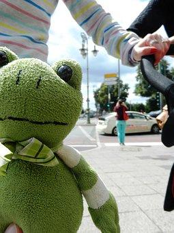 The Frog, żabka, The Mascot, Plush, Tour, Pet, Hands