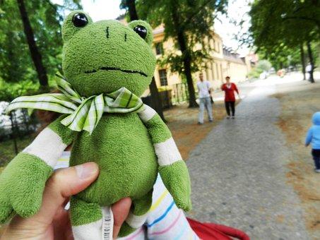 The Frog, żabka, The Mascot, Green, Toy, Eyes, Tour