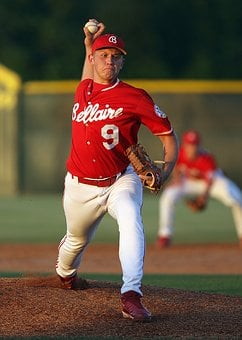 Baseball, Pitcher, Pitching, Action, Throwing, Ball