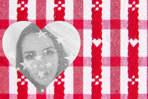 Valentine, Heart, Veil, Transparent, Woman, Star