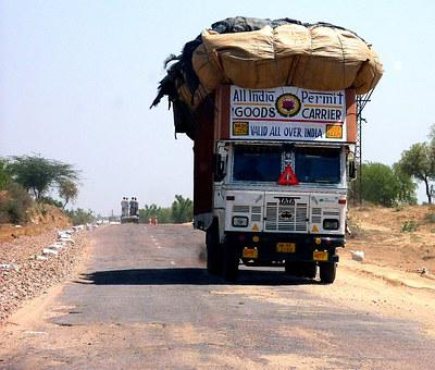 India, Overloaded, Truck, Cars, Vice, Transport
