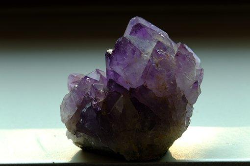 Amethyst, Semi Precious Stone, Violet, Bright, Crystal