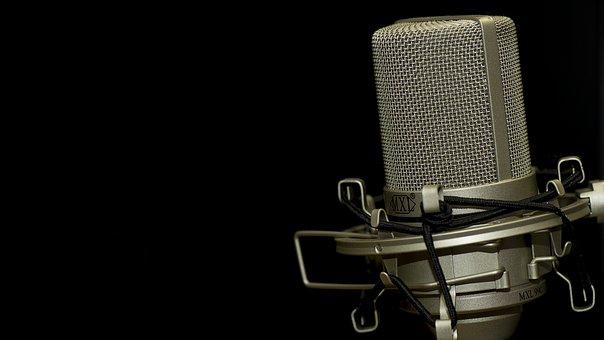 Microphone, Music, Audio, Radio, Voice, Vocal, Sound