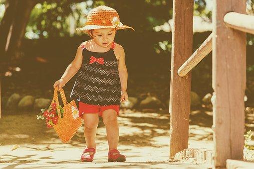 Baby, Walking, Retro, Child, Family, People, Happy