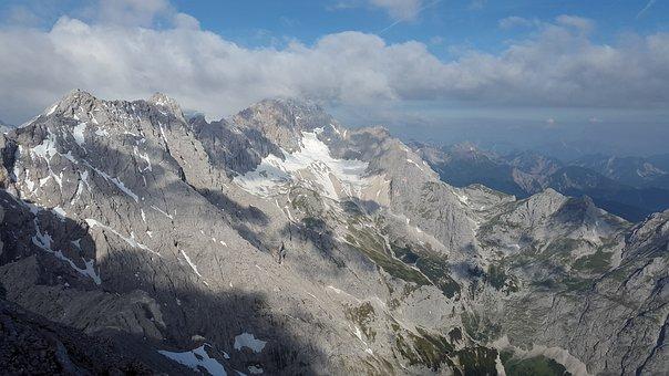 Zugspitze, Arête, Zugspitze Massif, Mountains, Alpine