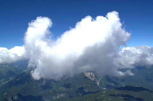 Far Right, Eastern Alps, Zugspitze, Cloud, Alpine