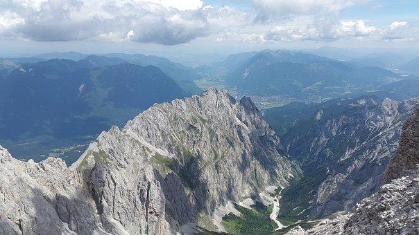 Hell Valley, Ridge, Rock Ridge, Zugspitze Massif