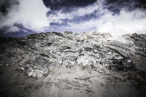 Zugspitze, Weather Station, Germany, Mountains, Alpine