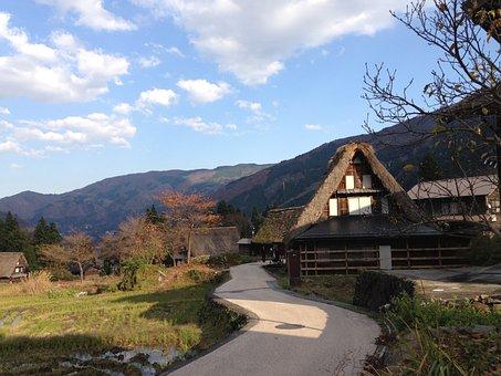 Toyama, Gassho-style, Ainokura, Village
