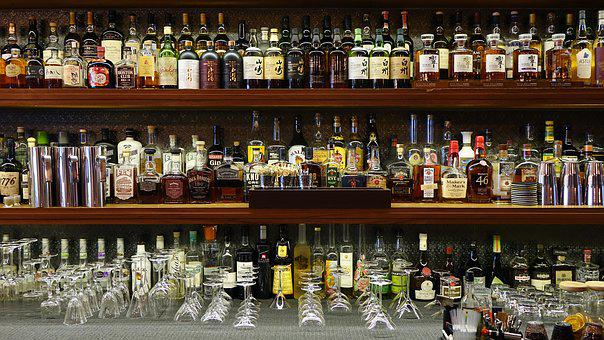 Bar, Liquor, Bottles, Labels, Alcohol, Pub, Glass