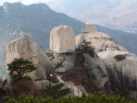 Bukhansan Mountain, Ridge, Rock