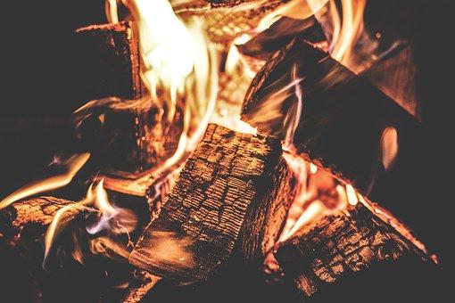 Campfire, Fire, Burn, Camping, Dark, Fireplace