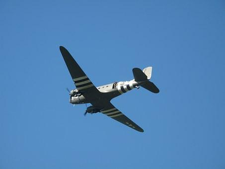 C-47, Dakota, Dc-3, Warbird, Aircraft, Airplane, Flight