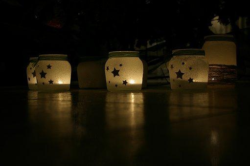 Vase, Jars, Decoration, Christmas, Craft, Hobby, Candle
