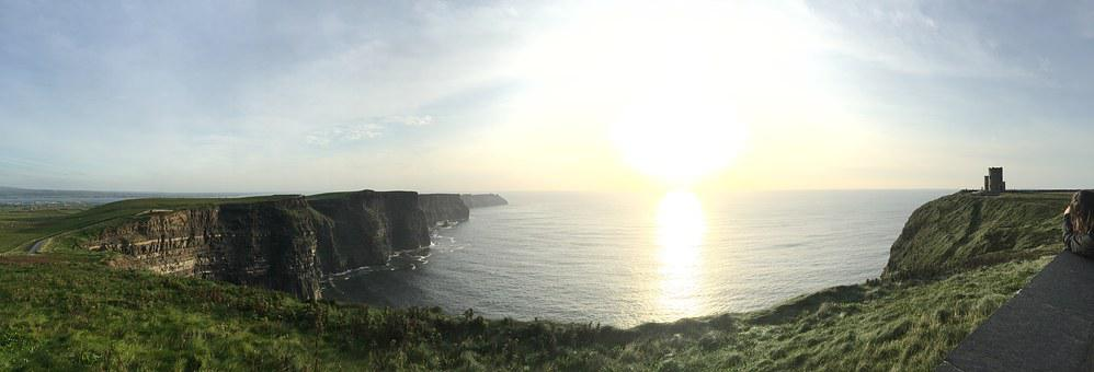 Cliffs Of Moher, Ireland, Panoramic, Sea, Cliff