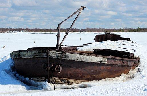 Finland, Shipwreck, Ship, Boat, Ruins, Debris, Sky