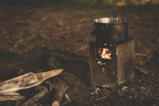 Camping Cooker, Kocher, Burner, Cook, Fire, Flame, Hot
