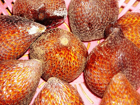 Fruit, Salak, Skin, Scales, Brown