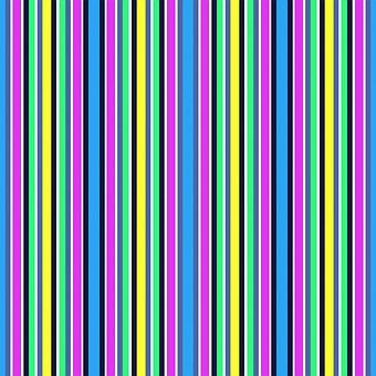 Vivid, Stripes, Purple, Yellow, Blue, Green, Thin