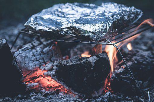Grill, Aluminum Foil, Ash, Barbecue, Charcoal, Carbon