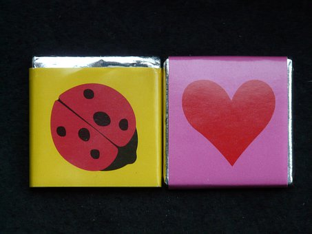 Ladybug, Heart, Sweetness, Chocolate, Luck, Love
