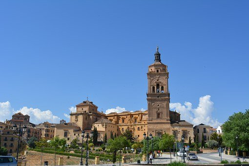 Andalusia, Church, Guadix, Spain, Landscape