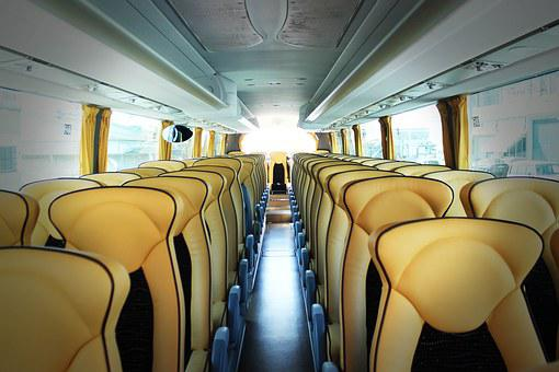 Bus, Vehicle, Transport, Inside, Living Room, Chairs