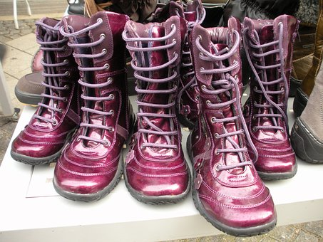 Boots, Ankle Boots, Footwear, Warm, Purple, Mauve