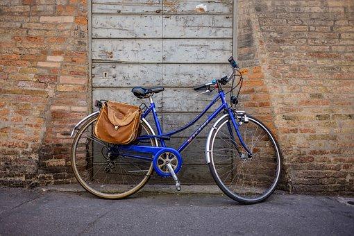 Bike, Bicycle, Wall, Old, Vintage, Wheel, Street, City