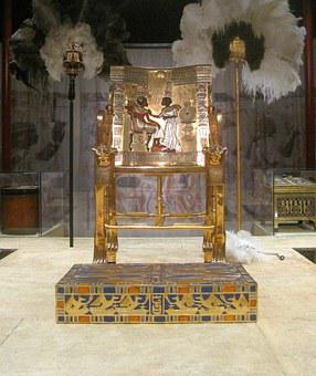 Throne, Gold, Opulent, King, Historic, Egyptian