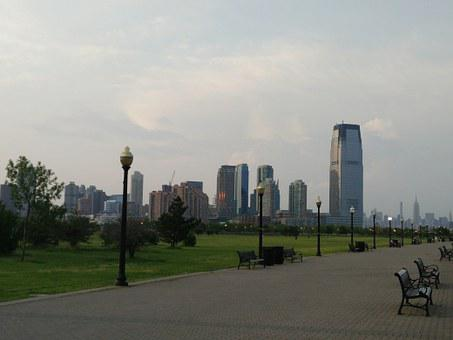 Liberty State Park, Jersey City, Skyline, Park, Walk