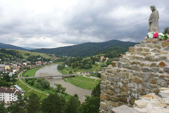River, Mary, Figure, View, The Area, Muszyna, Poprad